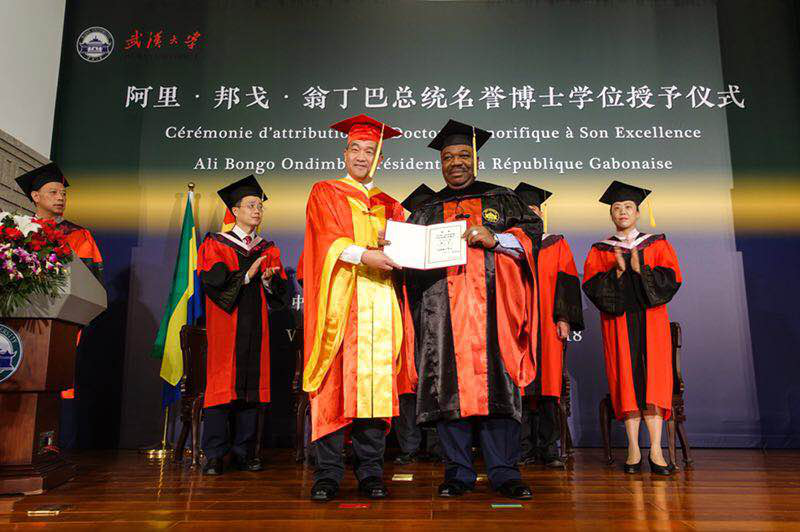 Honorary Doctorate of Law awarded to Ali Bongo Ondimba, President of the Gabonese Republic by Wuhan University